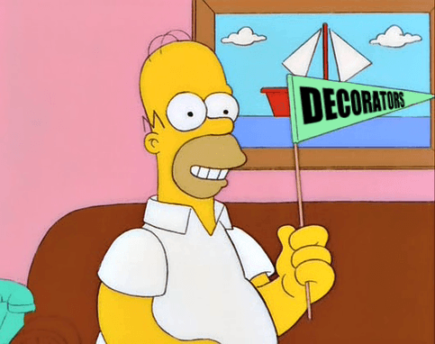 Homer decorators pennant image